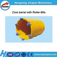 Core barrel with roller bits
