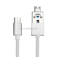 Braided for apple iphone 4 usb otg cable for emergency power supply