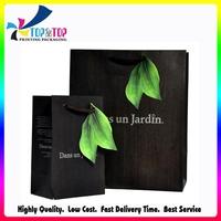 Black Printed 210g Coated Paper Shopping Bag