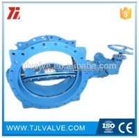 double eccentric flange di/wcb/ss cast iron groove end butterfly valve risilient seat water use