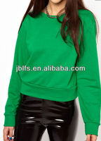 Custom girl's 100%cotton 320g plain color sweatshirt