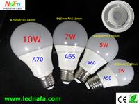 high power 5730smd 5w 7w 9w 90-260v 270 beam angle led bulb