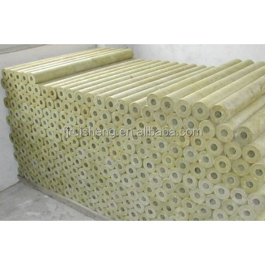 Density 120kg m3 rock wool pipe pipe insulation rock wool for Mineral wool density