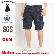 Site Pockets Custom Mens New Core Hawaii Style Cotton Cargo Shorts