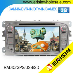 "Erisin ES7089F 7"" HD Head Unit 2 Din Car DVD Player GPS for S-MAX 2008"