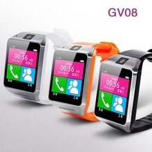(China Supplier) New Product GV08 Android Bluetooth Smart Watch Phone for iPhone 6 & SAMSUNG Galaxy S5