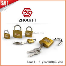high quality golden flash padlock thick type super polished