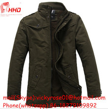 Hot Selling New Model Stand Collar Mens Long Leather rain coat of available