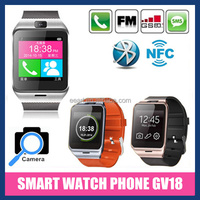 2015 Watch phone GV18 1.54 inch Smart Watch Phone Support SIM Card TF Card Camera Android Bluetooth Watch