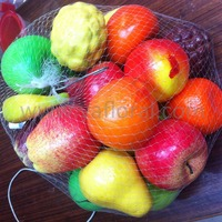 Cheap price artificial fruit garland with mesh bag artificial fruit large artificial fruits and vegetables decorations