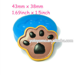 QYL208 Dog Foot Cookie Silicone Fondant Mold 43mm - Cookie Biscuit Bakery Air Dry Polymer Clay Mold, Resin Mold Fimo Mold