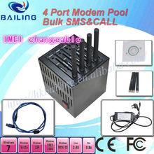 High quality gsm tc35 modem 4 port for bulk sms sending,usb2.0 interface