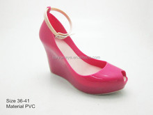 nuovo design gelatina colorato tacco alto scarpe da donna