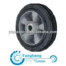 mold on elastic rubber heavy duty wheel