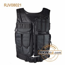 Caza negro Secutiry ejército Modular chaleco táctico / chaleco de policía