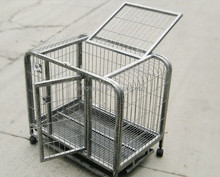 high quality outdoor stainless steel dog cage with wheels