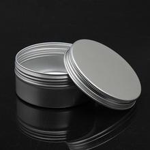 20pcs/lot 150ml Empty Aluminum Jar with Screw Lid Aluminum Container for Cream Ointment Hand Cream Storage