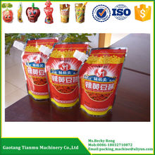 sauce/ketchup/paste spouted doypack pouch filling and screw cap packing machine