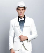 Men's Fashion White Tailored and Fitted Casual Suit