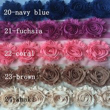 "2.5"" shabby chiffon circle flower making for baby headbands"