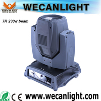 wecanlight 7R 230w moving head light sharpie beam 230 moving head stage lights for dj nightclub