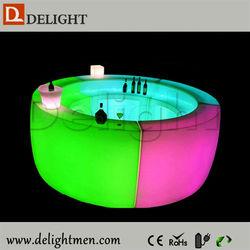 Outdoor furniture hot sale outdoor ip65 glowing 16 color wireless control nightclub big bar counters for nightclub