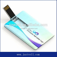 Full color print usb business card pendrive business card usb flash drive