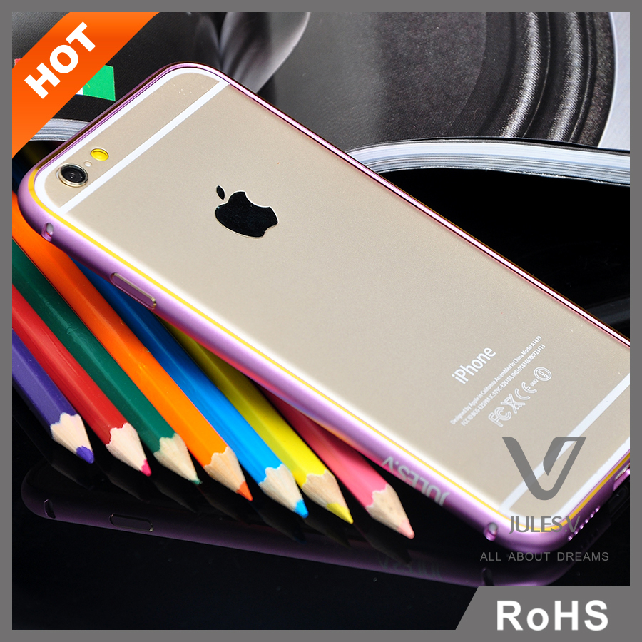 Ultra thin CNC-Aluminum Metal Bumper Frame Case Cover For iPhone6s plus