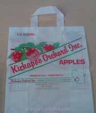 Plastic handle bag high quality LDPE shopping bag loop handle bag for garment
