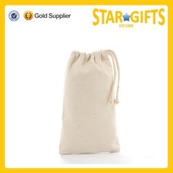 China Suppliers Wholesale Plain Cotton Canvas Drawstring Bag
