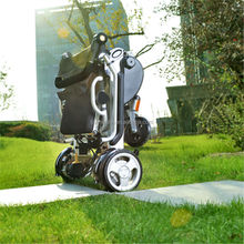 2015 new model multifunction lightweight portable electric wheelchair for handicapped
