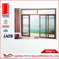 Alta calidad YH 60 series exterior posición deslizamiento apertura del pvc del estilo francés ventanas