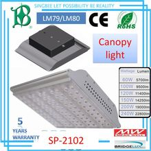 -20-40 working temperature LM79&LM80&IP66&CE&ROHS,120W,5 WARRANTY high lumen LED canopy light SP-2102