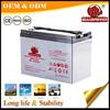 Agm valve deep cycle solar battery 6v 220ah for golf cart