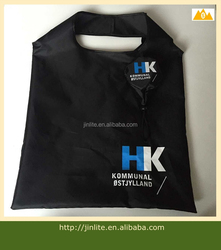 190T polyester foldable bag with small pouch