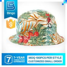 2015 Hot Selling Quality Assured Humanized Design Customized 100% Cotton Bucket Hat