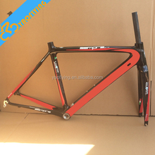 Top Selling Red chinese carbon road bike frame,beautiful Carbon Road Bike Frame carbon road frame For Sale