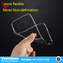 Ultra thin transparent clear mobile phone cover for samsung galaxy s6 made in china