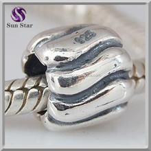 Sterling silver lantern bead charms promotional jewelry fit snake chain bracelets