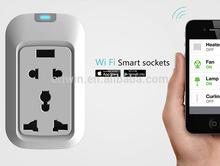 wifi smart estándar americano receptáculo, enchufe del reino unido, enchufe europeo interruptores de control en cualquier lugar