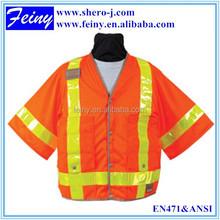 en471 Klasse 3 großhandel taste orange hallo nämlich weste klettverschluss Taschen