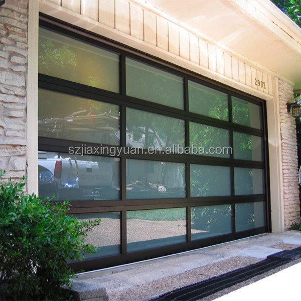 Sectional aluminum glass garage door panels sale buy for Sectional glass garage door