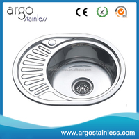 Stainless steel round sink for small apartment