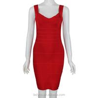 Fashion red backless Celebrity Style dresses 2015 bandage
