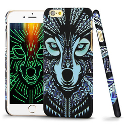 Imak 3D Luminous Animal wolf monkey lion light in the dark Pattern Case Cover for Apple iphone 6
