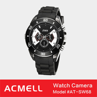 SW68 electroplating surface stainless HD NEW hidden camera watch
