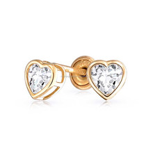 New model dark Clear heart 925 sterling silver stud warring with thread for woman