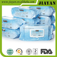 High quality spunlace non-woven baby wet wipes with lid