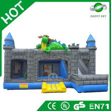 Factory direct sale good quality dinosaur bouncer house with slide, inflatable animal bouncer, air bouncer inflatable