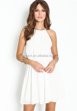 Veri Gude hotsale fashion sexy sundress for women chiffon off shoulder dress white full dress